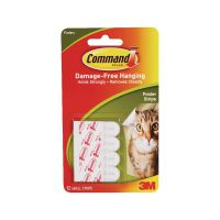 3M Command Adhesive Poster Strips Small (Pack of 12) 17024