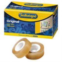 Sellotape Original Clear Small Core Tape 19mm x 33m